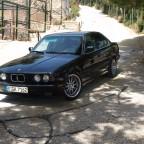 BMW e34 535iA im Wildpark Peña Escrita Andalusien